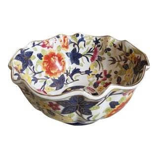 Pretty Colorful Floral Bowl For Sale