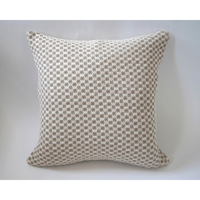 Traditional Tweed Bobble Heavy Woven Pillow Cover For Sale - Image 3 of 3