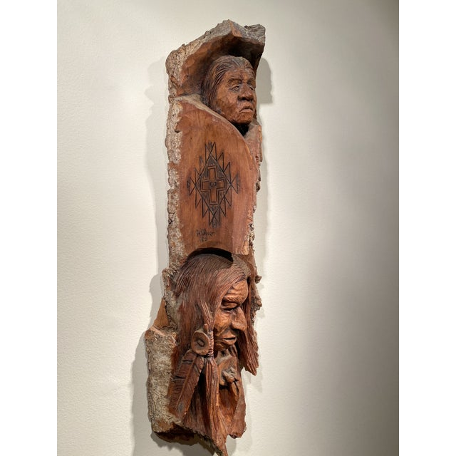 Figurative 1980s Wood Carving by Art Oliver For Sale - Image 3 of 5