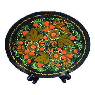 Hand Painted Russian Wood Plate