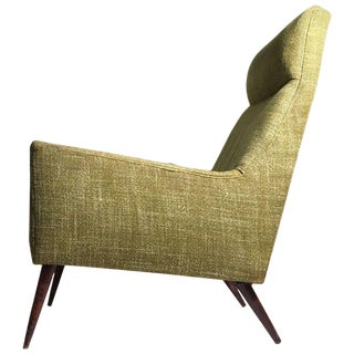 Superb Paul McCobb High Back Form Large Lounge Chair For Sale