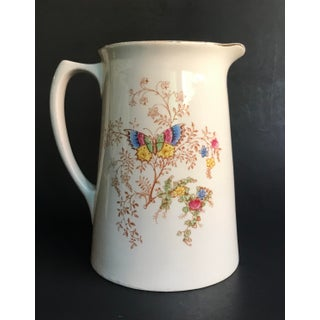 1920s Crown Ducal English Ceramic Pitcher With Pheasants Preview