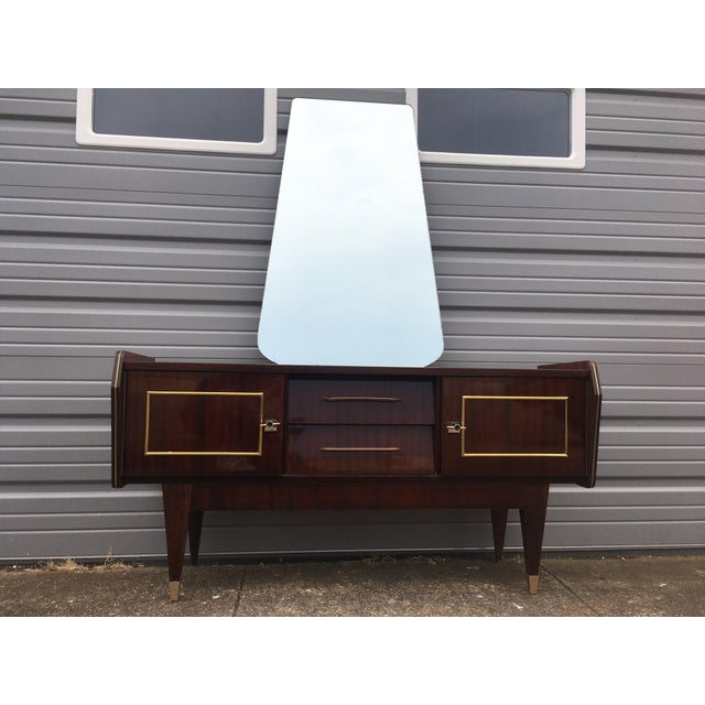 French Art Deco Ladies Dressing Vanity With Mirror For Sale - Image 9 of 10