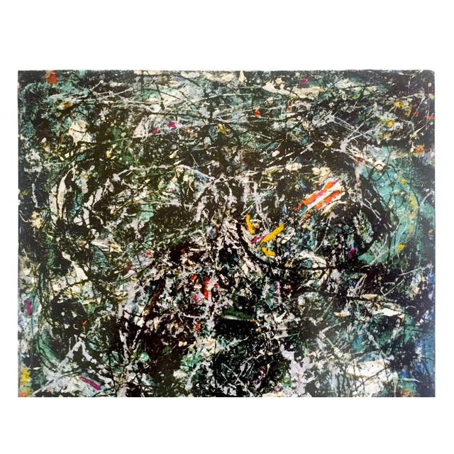 """Jackson Pollock Jackson Pollock Foundation Abstract Expressionist Collector's Lithograph Print """" Full Fathom Five """" 1947 For Sale - Image 4 of 12"""