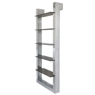 Paul Evans Chrome Cityscape Wall Shelving or Bookshelf For Sale