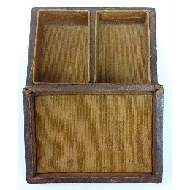 Mini Fleur-de-Lis Leather Box - Image 6 of 10