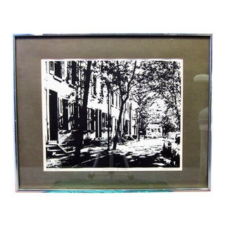 "Artist Proof by R. Ehrlich Titled ""Rittenhouse Square, Street"" For Sale"