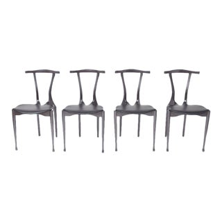 Set of Oscar Tusquets Gaulino Chairs Black