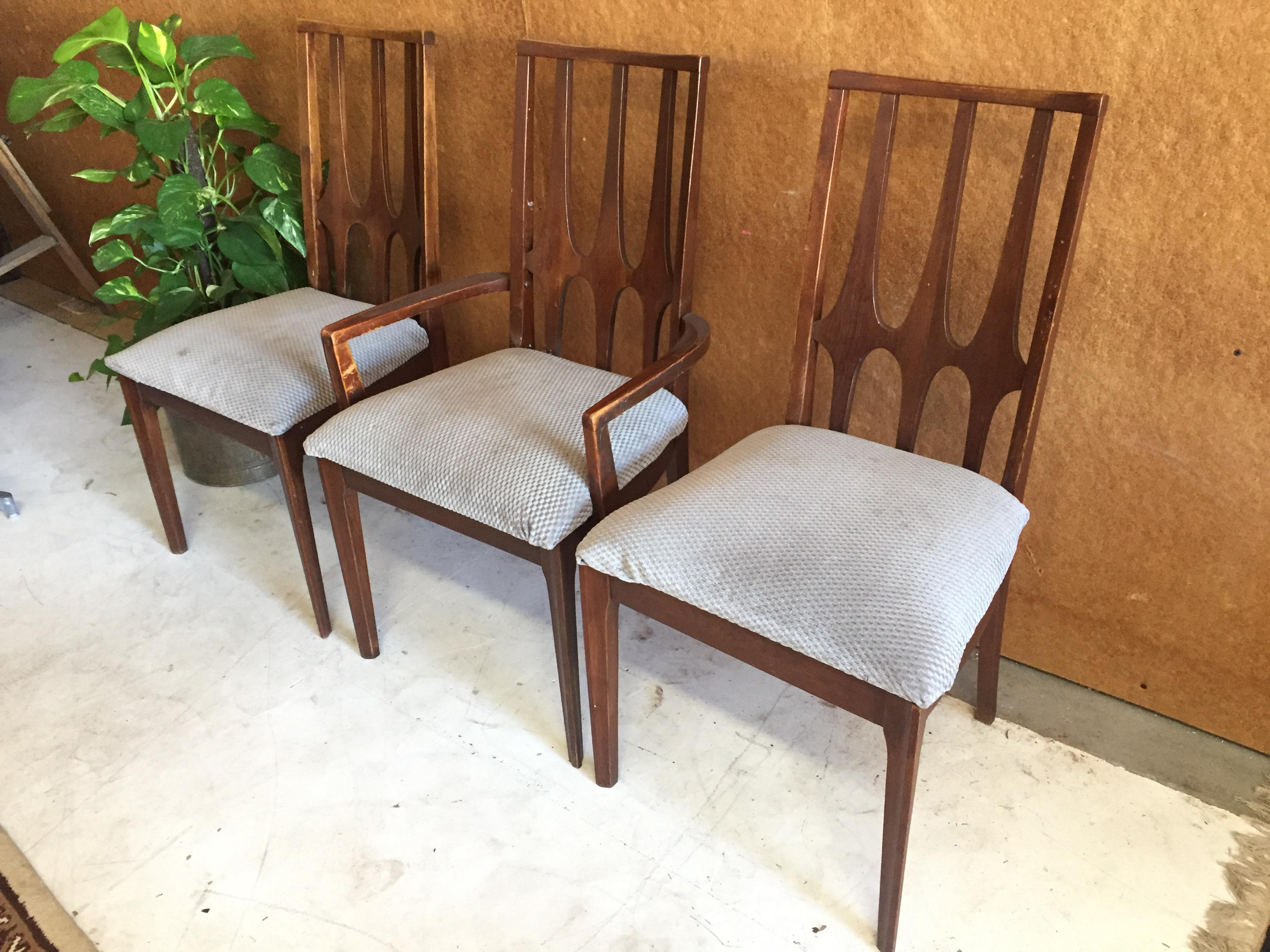 1960s Broyhill Brasilia Mid Century Dining Chairs   Set Of 3 For Sale    Image 5