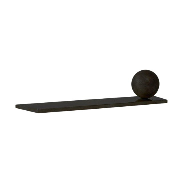 Modern Contemporary 003 Incense /SageRest in Blackened Brass by Orphan Work For Sale