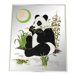 Vintage Panda Bear Wall Mirror For Sale