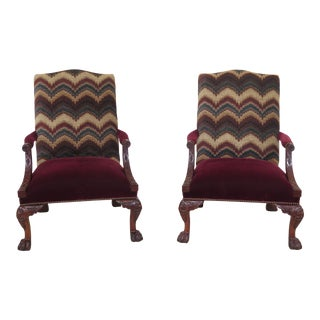 Henredon Natchez Collection Mahogany Arm Chairs - a Pair For Sale
