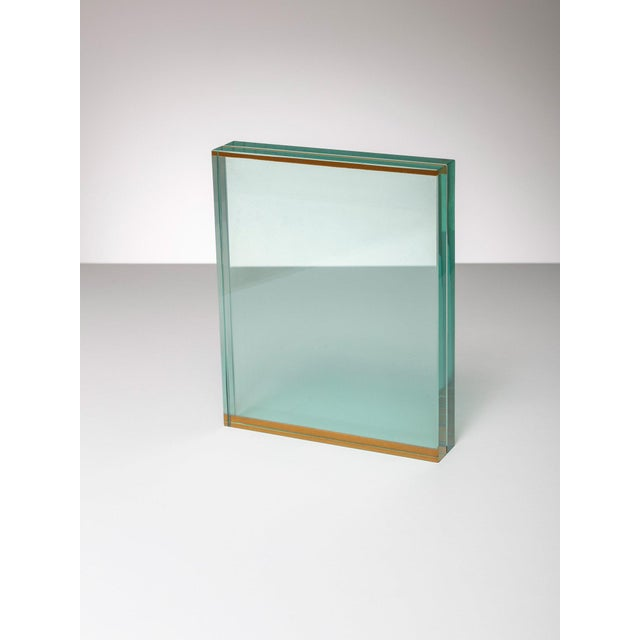 Modern Fontana Arte Glass Table Frame For Sale - Image 3 of 5