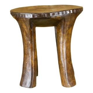 Ina Tribal Naga Wooden Stool For Sale