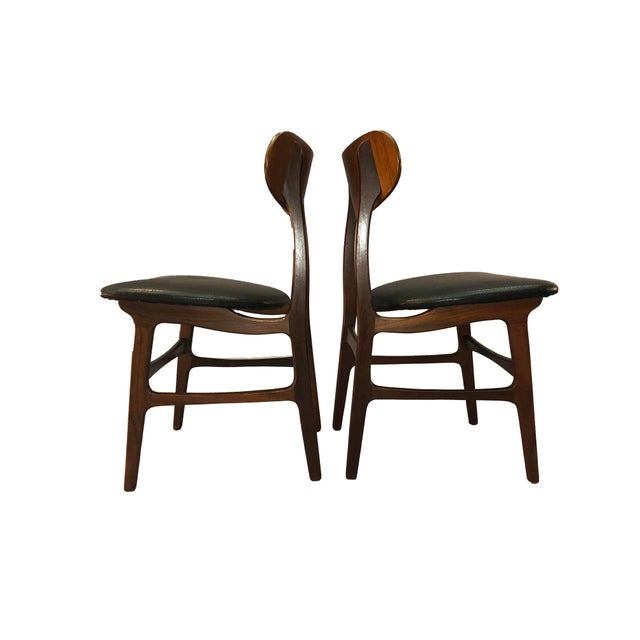 Plastic Danish Teak Round Back Dining Chairs - Set of 6 For Sale - Image 7 of 13