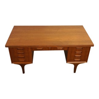"Danish Mid-Century Teak Desk - ""Tølløse"" For Sale"