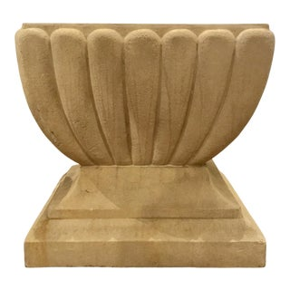 Indoor/Outdoor Transitional Limestone Table For Sale