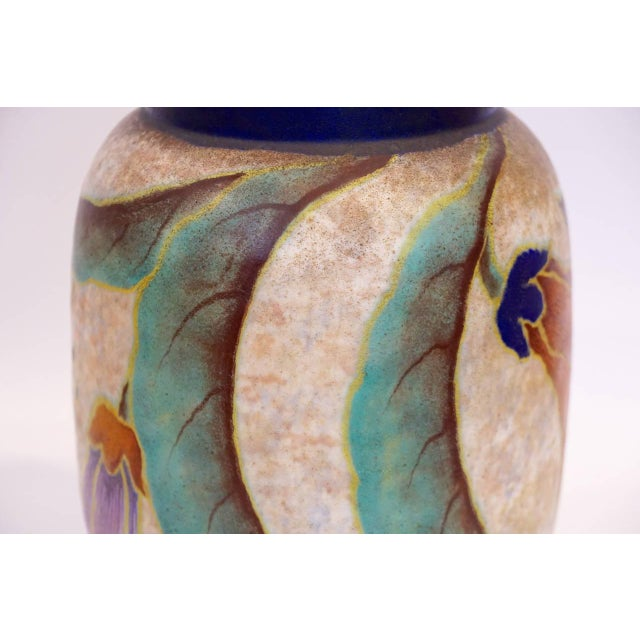French Art Deco Ceramic Vase by M. Fontinelle - Image 5 of 7