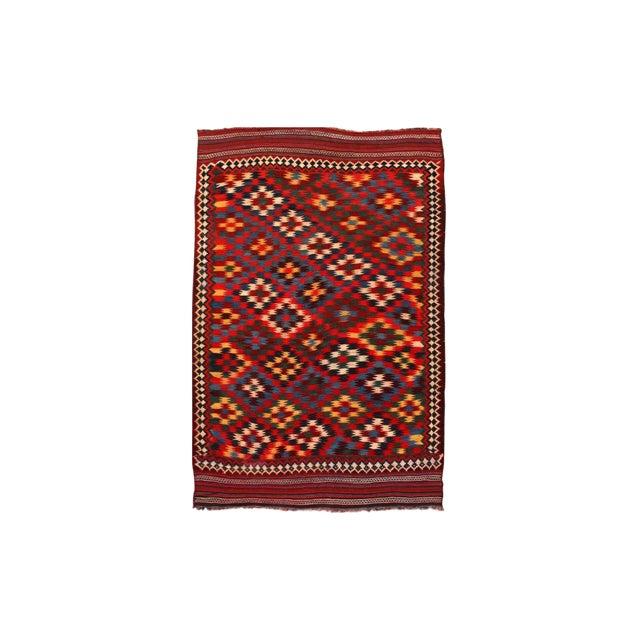 Antique Persian Kilim Qashqai Rug For Sale
