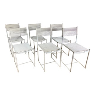 1970s Giandomenico Beloit for Alias Spaghetti Garden Chairs- Set of 6 For Sale