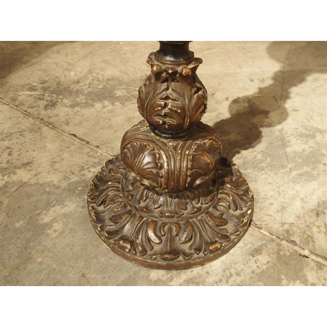 Carved Antique French Floor Candlestick Lamp, circa 1880 - Image 7 of 9