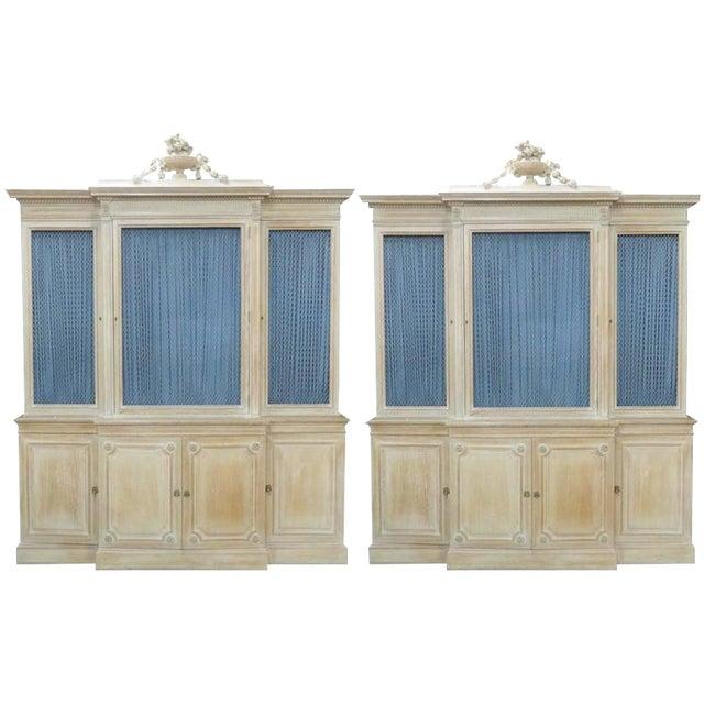 Pair of Maison Jansen Regency Style Bibliotheque Breakfronts For Sale