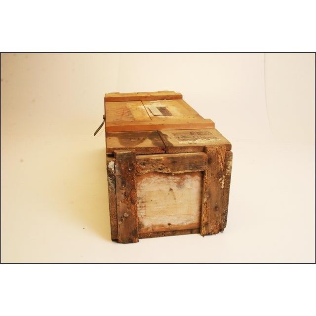Vintage Wood Military Ammunition Trunk - Image 7 of 11