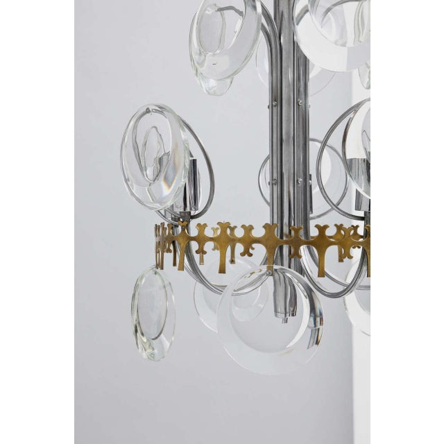 Vistosi Murano Vistosi Clear Crystal Disc Chandelier For Sale - Image 4 of 10