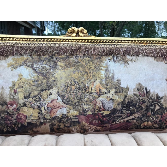 French French Louis XVI Style Corbeille Sofa For Sale - Image 3 of 7