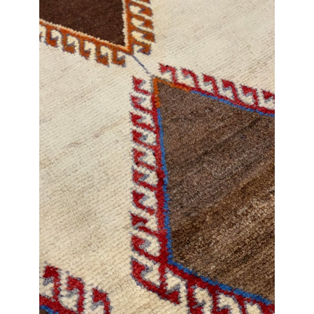 1960s Vintage Persian Gabbeh Rug - 4′2″ × 6′4″ For Sale In Atlanta - Image 6 of 13