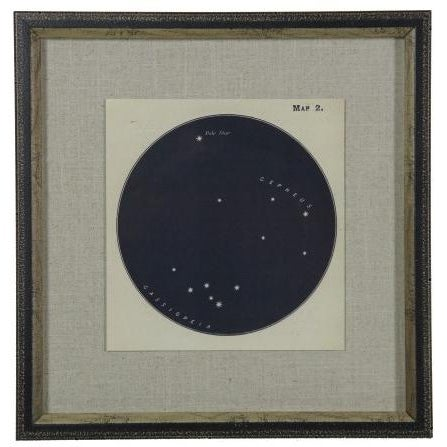 Illustration Contemporary Navy Constellation Print in Shadowbox For Sale - Image 3 of 3