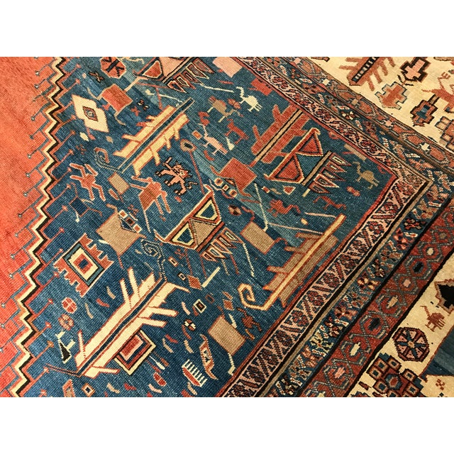 Antique Persian Bakshaish Rug - Image 5 of 6