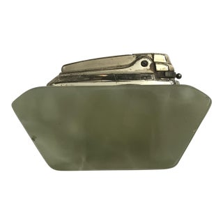 Vintage Light Green Stone Lighter For Sale
