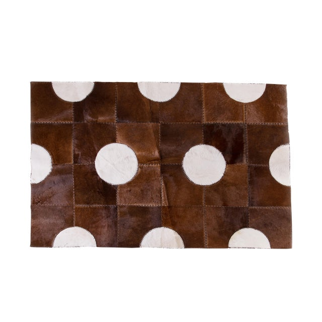 "Aydin Cowhide Patchwork Accent Area Rug - 5'1"" x 7'7"" For Sale"