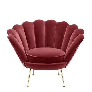 Modern Trapezium Red Shell Shaped Chair For Sale