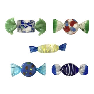 Murano Glass Candy - Set of 5 (Lot #1)