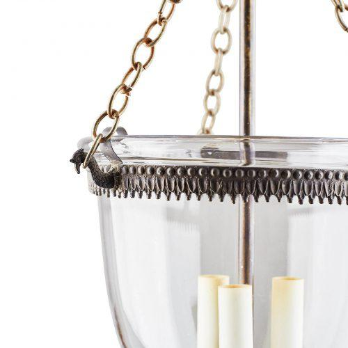 English Traditional 1890s English Bell Jar Lanterns - a Pair For Sale - Image 3 of 6