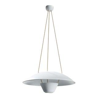 Michel Mortier M4 Suspension Lamp in White for Disderot For Sale