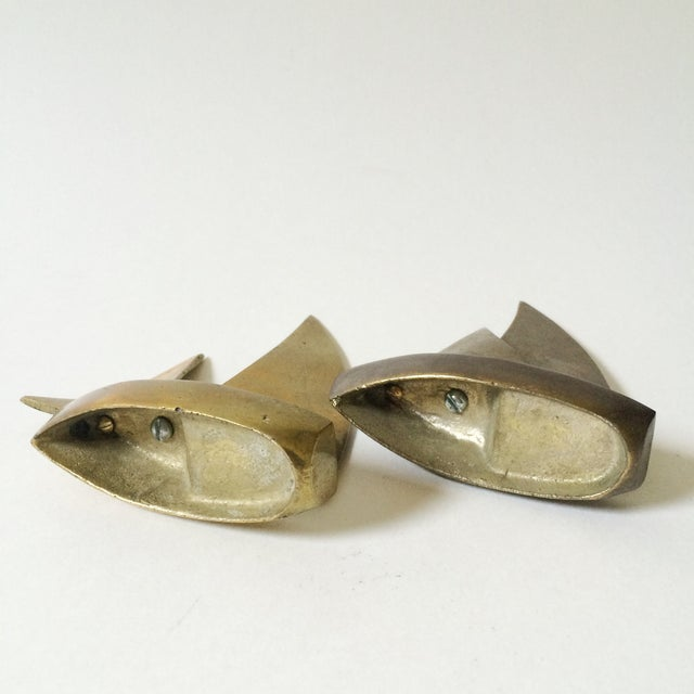 Mid-Century Brass Sailboat Figurines - A Pair - Image 5 of 6