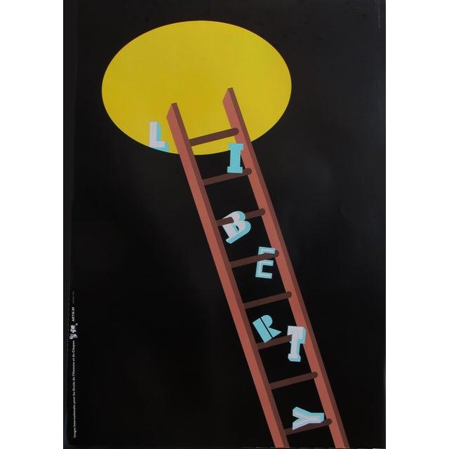 1989 Original Poster for Artis 89's Images Internationales Pour Les Droits De l'Homme Et Du Citoyen - Liberty For Sale - Image 4 of 4