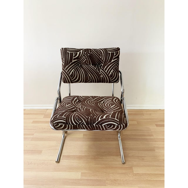 Jerry Johnson Style Upholstered Accent Chair For Sale In Los Angeles - Image 6 of 9