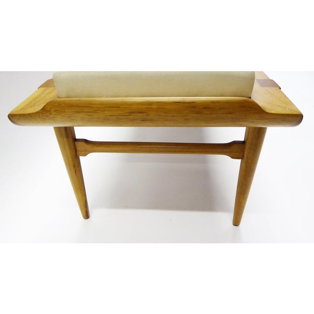 1950s 1950s Tomlinson's Sophisticates Line Mid-Century Modern Walnut Bench For Sale - Image 5 of 13