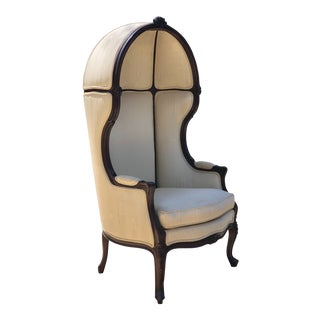 Early 20th Century Louis XV Style Porter's Chair of Walnut For Sale