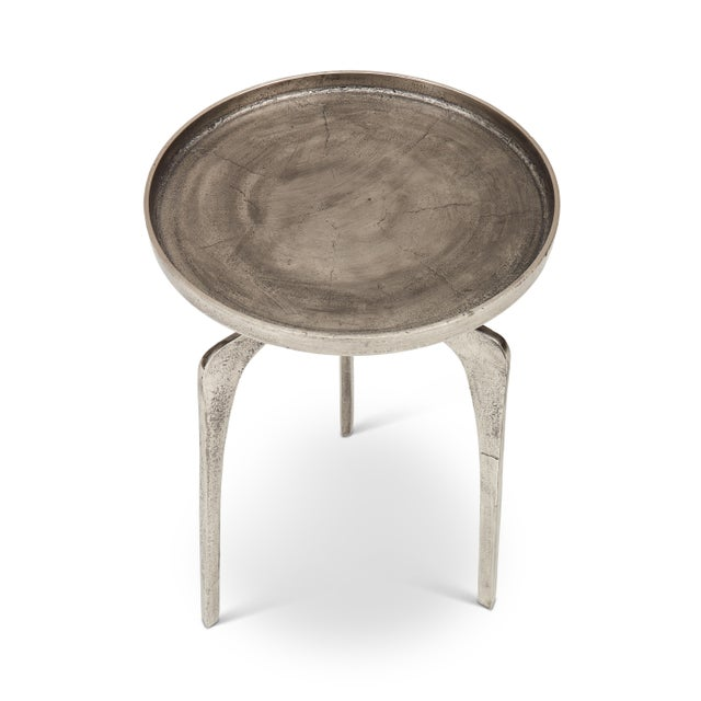 Mid-Century Modern Cameron End Table, Vintage Silver For Sale - Image 3 of 7