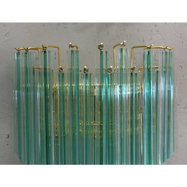 Murano, Venini & Co. Aquamarine Murano Glass Quadriedri Sconces by Venini - 6 Available For Sale - Image 4 of 6