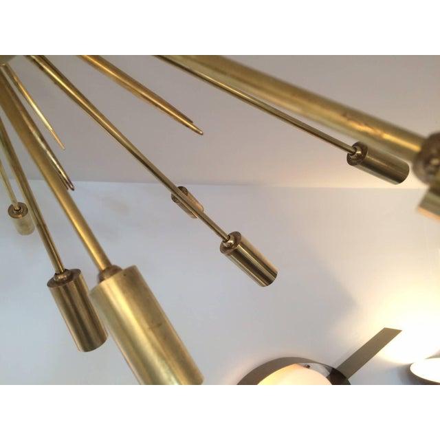 Stilnovo Brass Flush Mount Sputnik by Stilnovo For Sale - Image 4 of 5
