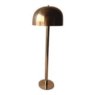 Vintage Mid Century Laurel Lighting Company Style Brass Mushroom Lamp For Sale