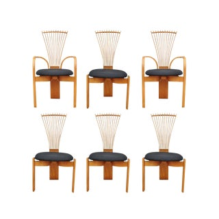 Late 20th Century Danish Modern Dining Chairs by Torstein Nilsen Westnofa- Set of 6 For Sale