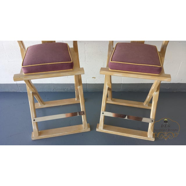Vintage Chinoiserie Bar Stools - a Pair For Sale - Image 6 of 11
