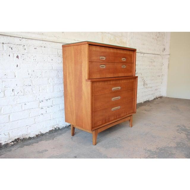 "Kent Coffey Kent Coffey ""Focus"" Mid-Century Modern Highboy Dresser For Sale - Image 4 of 9"